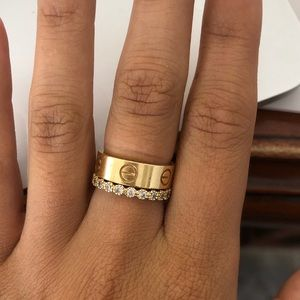 Thick Gold Cartier Love Ring 5.5mm